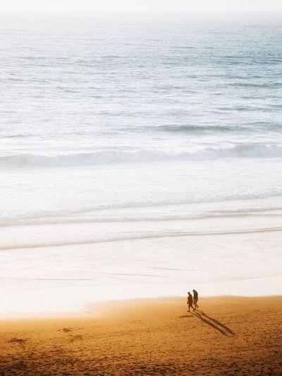 People walking at beach