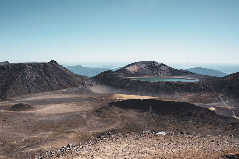 Tongariro dramatic trail scenes in new zealand
