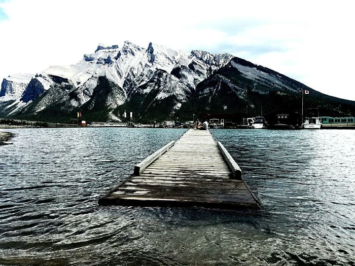 Banff National Park  Mountain Sky Outdoors Snow Lake Beauty In Nature Water Scenics Nature Cloud - Sky Day No People Photography Built Structure Beautiful Mountain Range mountain range Architecture Building Exterior First Eyeem Photo
