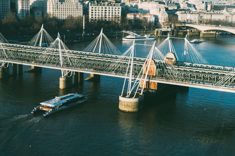 Under the bridge London City Landscape England Boat Bridge Cityscape Travel