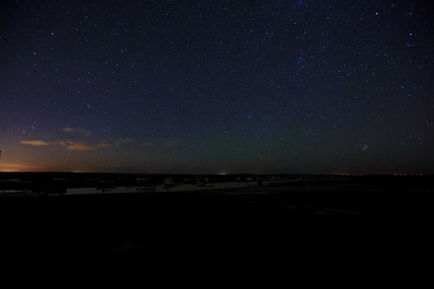 Tranquil Scene Scenics Tranquility Night Beach Star - Space Idyllic Beauty In Nature Silhouette Dark Sky Sea Star Field Nature Majestic Outdoors Vacations Remote Atmosphere Dramatic Sky Brancaster Staithe Norfolk Uk Aurora
