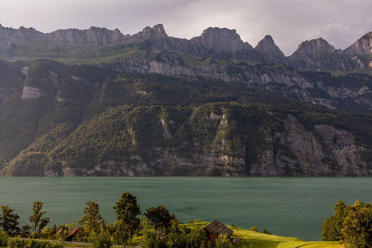 Clouds Day Farm Lake Lakeside Majestic Mountains Nature No People Outdoors Sunny Switzerland