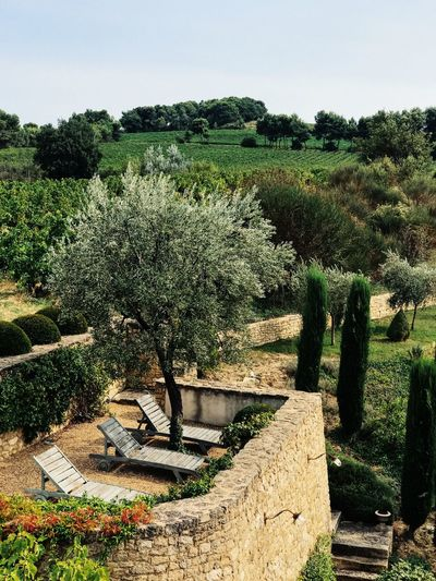 France Relaxing Rhône Travel Architecture Countryside Garden High Angle View Lounge No People Sky South Of France Summer Tranquility Travel Destinations Vacation