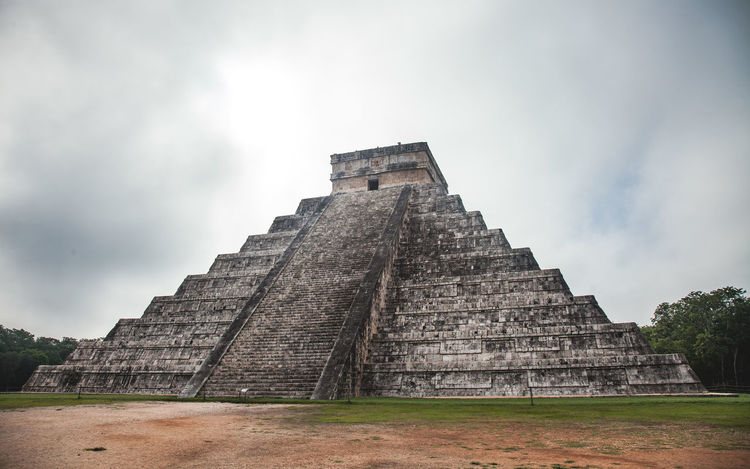 Chichen Itza Chichen-Itzá Mayan Mayan Ruins Yúcatan Ancient Ancient Civilization Archaeology Architecture Building Exterior Built Structure Cloud - Sky Day History Low Angle View Maya No People Old Ruin Outdoors Pyramid Sky The Past Travel Travel Destinations Yucatan Mexico