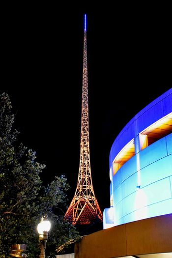 The Art Centre spire at night Architecture Building Exterior Built Structure City Illuminated Low Angle View Night Spire  Tall - High Tourism Tower