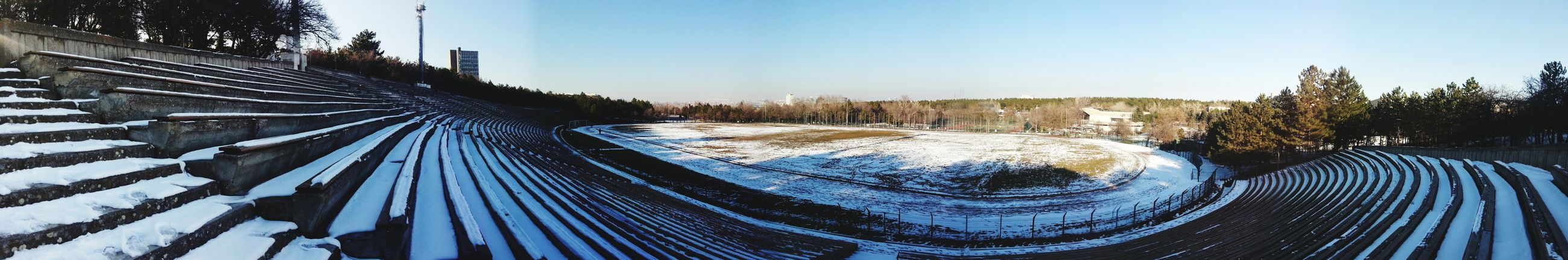 Odtü Devrim Stadium Metu Panaroma Panaromic Winter