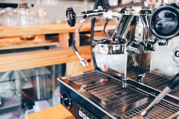 View of coffee maker