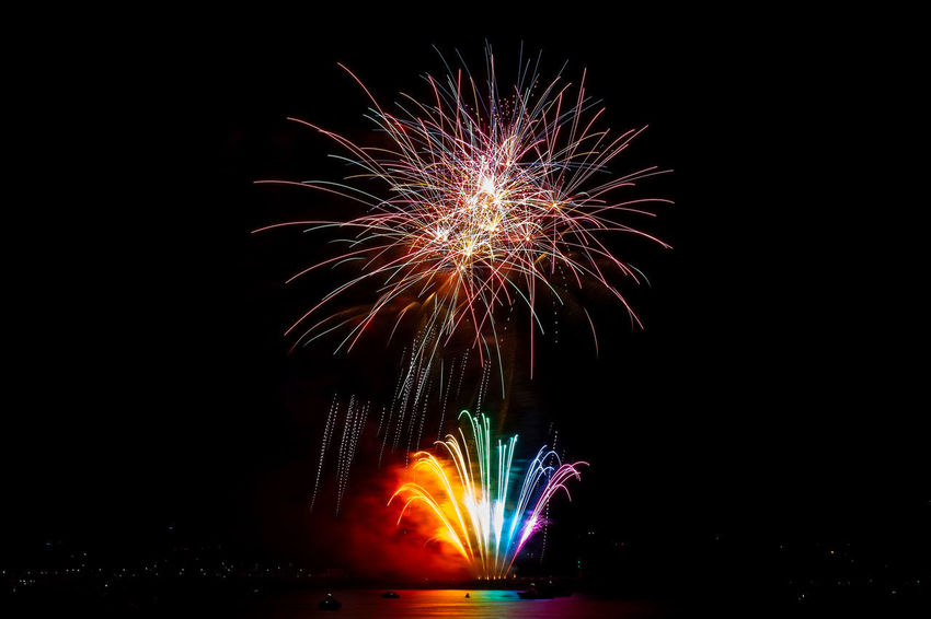 Arts Culture And Entertainment Blurred Motion Burning Celebration Event Exploding Fire Firework Firework - Man Made Object Firework Display Glowing Illuminated Light Long Exposure Motion Multi Colored Nature Night No People Sky Sparks