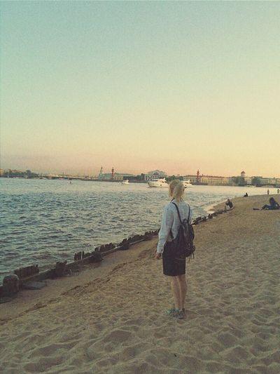 That's Me Saint Petersburg Peterandpaulfortress Sunset Sand Beautiful Awesome_view Spb Petersburg Neva River