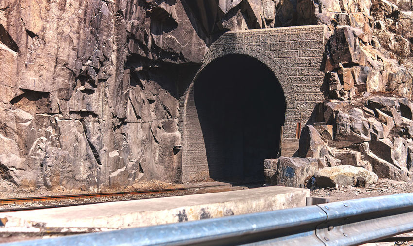Arch bridge in tunnel