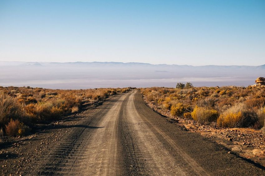 The Road to the Tankwa Karoo, South Africa. Travel Destinations Outdoors The Way Forward Road Landscape No People Nature Scenics Day Beauty In Nature Tranquil Scene Tranquility Sky Clear Sky