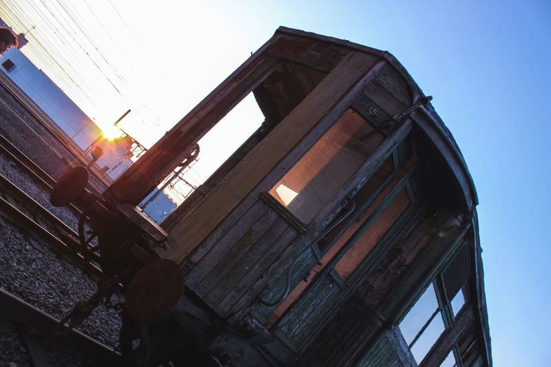 Low Angle View Clear Sky Sky No People Train Old Urbex Urbexphotography Exploring Explore Urban Exploration Urban Exploration