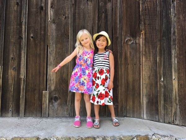Friends Girls Happiness Childhood Childhood Friends Best Friends Portrait Cupertino California United States IPhoneography No Filter Showcase June Two Is Better Than One