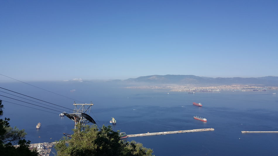Gibraltar Views Gibraltar And Sea Gibraltar Water Sea Nautical Vessel Tree Blue Beach Sky