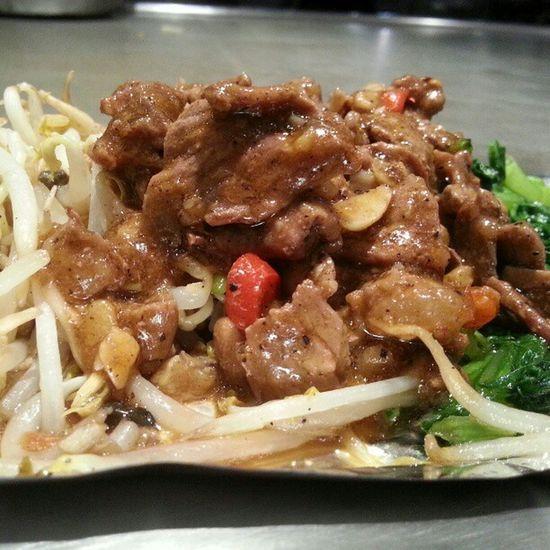 Teppanyaki Beef Garlic Vege green sedap Igmy foodism fooporn