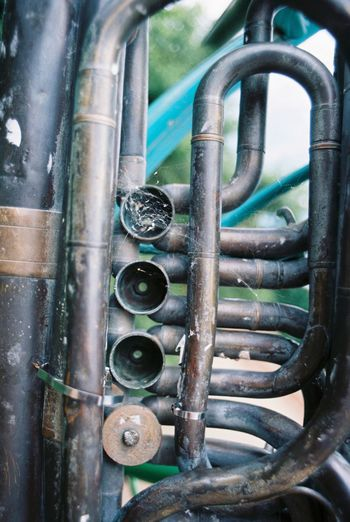 Corroding Tuba Brass Close-up Corrosion Metal Musical Instrument No People Nut - Fastener Relaxing Rust Tuba Vertical Art Is Everywhere