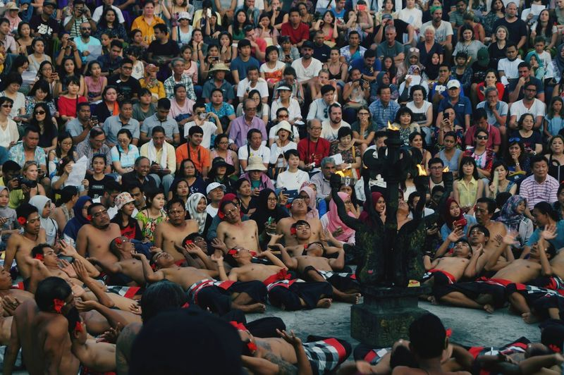 People around the world always love Kecak People Multi Colored Performance Cheering Kecak Outdoors Audience Togetherness Real People Crowd Tradition Lifestyles Carnival Crowds And Details EyeEmNewHere