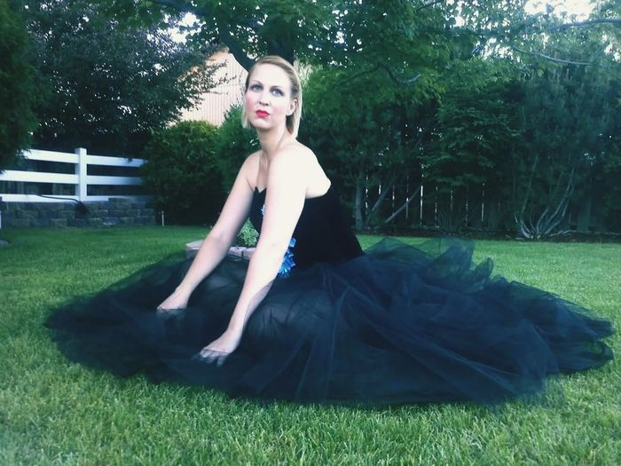 Beauty Fashion Blond Hair Beautiful Woman Ballerina Tutu Dancer Lovely Health Grass Portrait Sitting Evening Gown Balletslippers Recital Young Adult Tree LongLegs Hot Blonde Bend Oregon EyeEmNewHere Colour Of Life Godscreature November Rain Guns N Roses