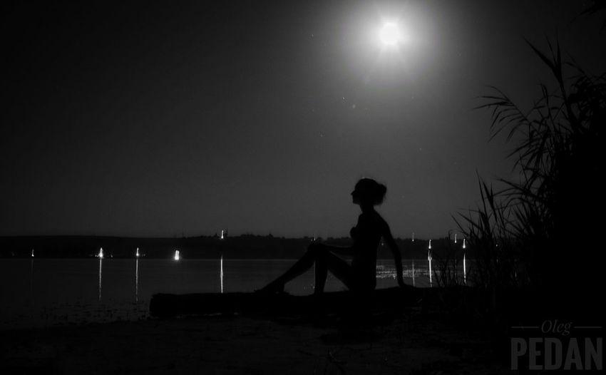 girl Moon Sky