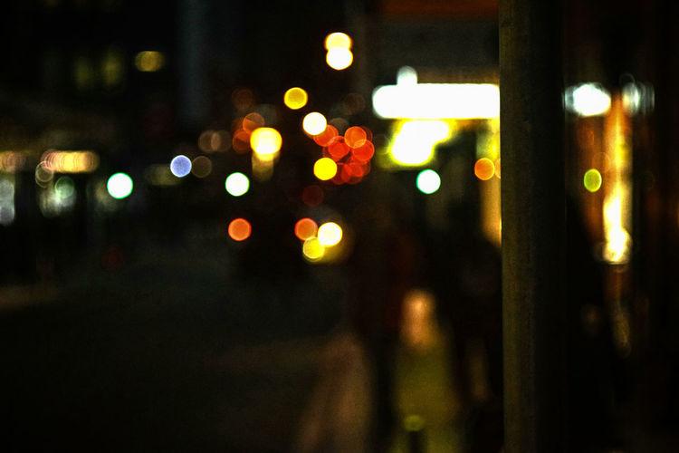 bokeh street City Night Nightlife Lights Bokeh Defocused Illuminated City Celebration Car Close-up Vehicle Light Electric Light