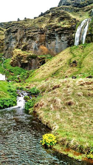 Nature Walking Around Waterfall Water Stream Excercising Getting In Touch Relaxing Escaping Iceland