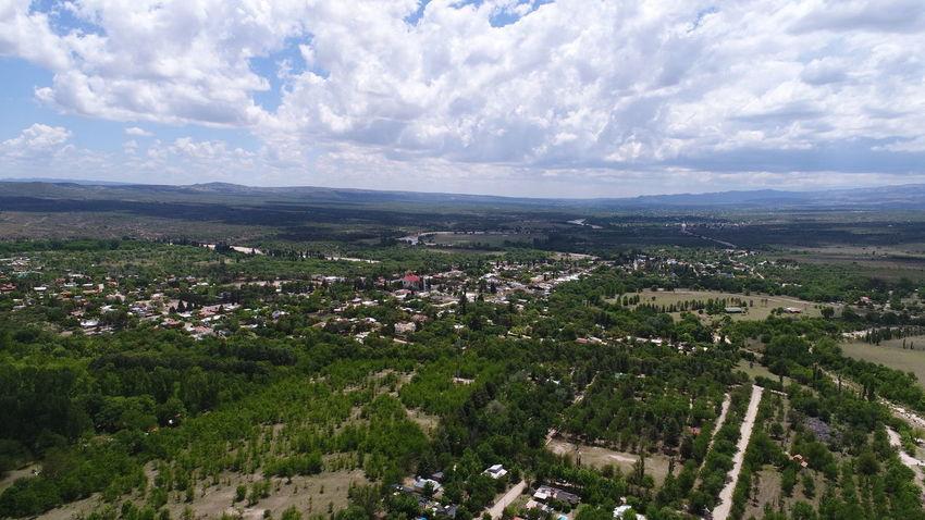 Aerial Shot Campo Ciudad Dramatic Sky Drone  Nono Rio Aerial View Churt Day Dronephotography Droneshot Iglesia Mina Clavero No People Outdoors Plaza Central