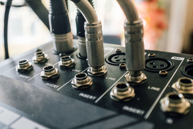audio equipment. Audio jack connectors Studio Arts Culture And Entertainment Audio Equipment Close-up Connection Block Control Control Panel Day Electrical Equipment Indoors  Knob Mixing Music Musical Instrument No People Radio Station Recording Studio Sound Mixer Sound Recording Equipment Technology