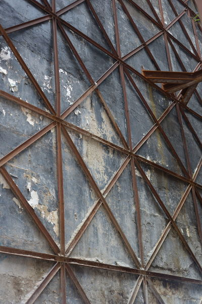 Architecture Construction Site Metal Beams Architecture Backgrounds Built Structure Ceiling Close-up Day Design Flooring Full Frame Geometric Shape Indoors  Low Angle View Metal No People Pattern Security Shape Square Shape Textured  Wood - Material