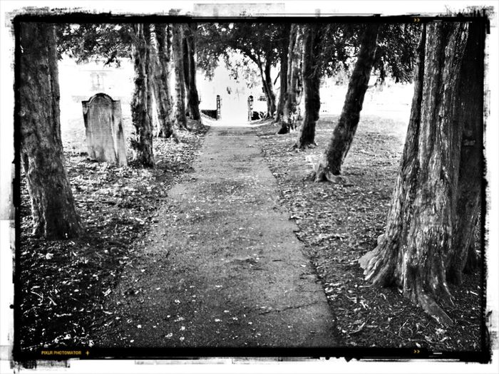 Blackandwhite Church Church Yard Grave Graveyard Beauty The Other Way Out Of The Churchyard
