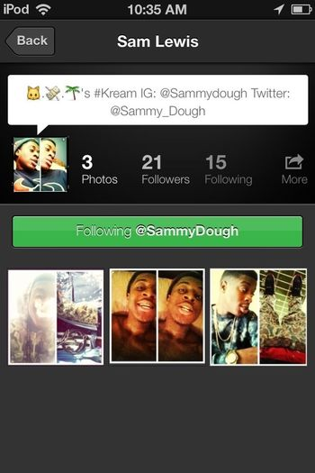 Want a Shoutout??? Follow my cousin and comment Done for a follow back and a Shoutout