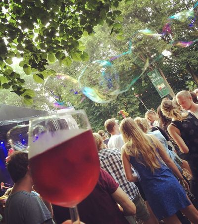 Real People Bubble Party - Social Event Togetherness Wine Rosé Festival Appletree Garden Festival Wine Moments