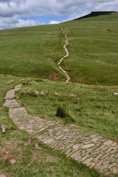 Wales United Kingdom Greenery Hiking Leisure Activitiy Mountain Range Path Forward Trail Walking Track