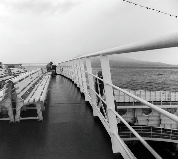 Waiting Alone On The Ship Blackandwhite