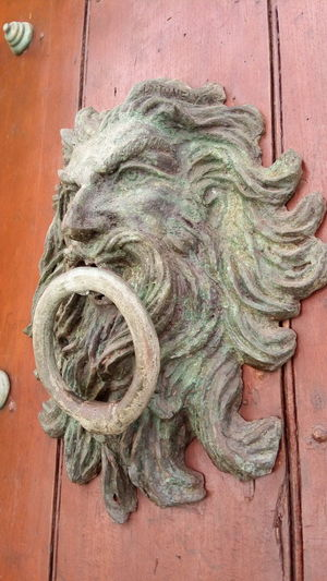 Fishing Net Close-up Wooden Door Knocker Doorknob