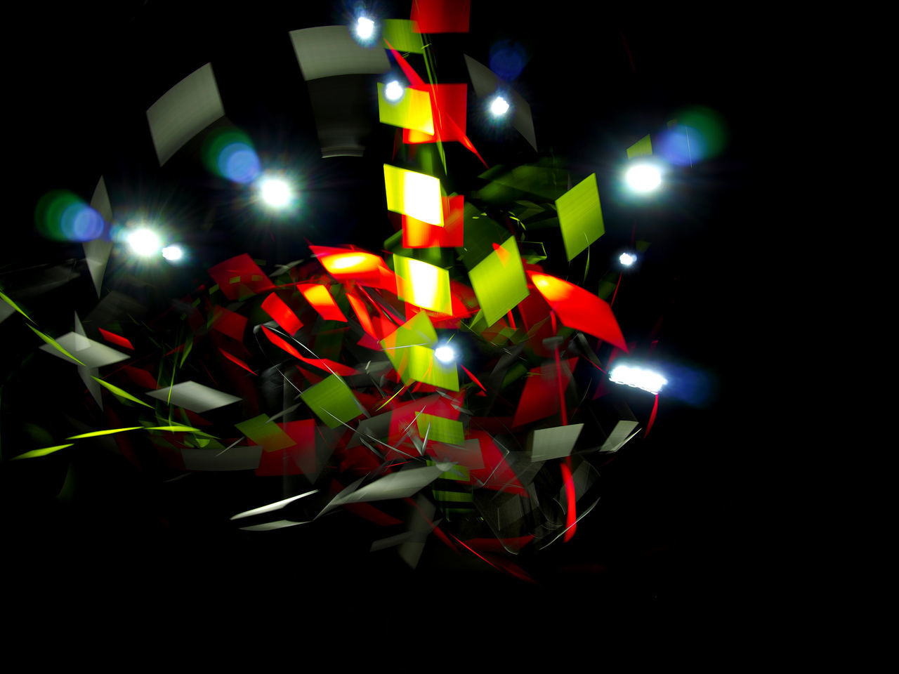illuminated, multi colored, night, glowing, no people, lighting equipment, close-up, indoors, celebration, decoration, studio shot, light, holiday, art and craft, shape, light - natural phenomenon, christmas, black background, electricity, creativity