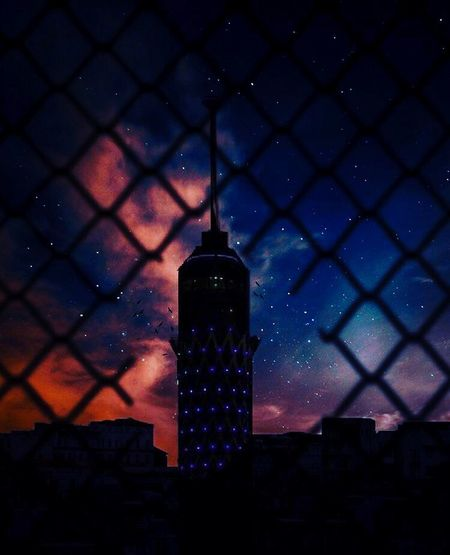 Cairo Tower Egypt Night Star - Space Astronomy Architecture Building Exterior Sky Space No People Milky Way Nature Galaxy Built Structure Illuminated City Outdoors