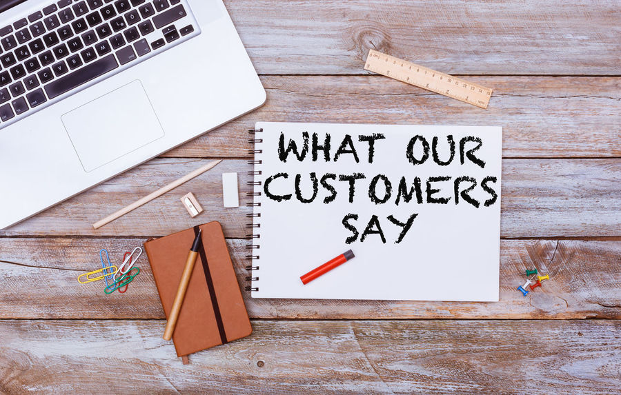 Communication Text Word Header Headline Title Copy Western Script No People Indoors  Capital Letter Business Office Desk Flat Lay Testimonial Customer Service Clients