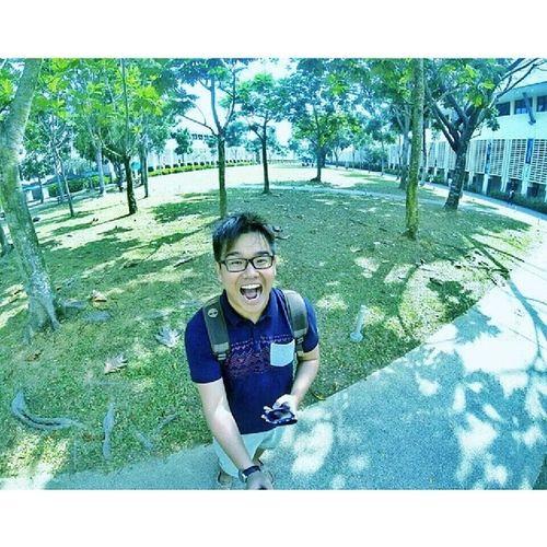 GoPro shot @ NIE! Last day of school! ;) Nie NoEdits  Nofilter Gopro selfie