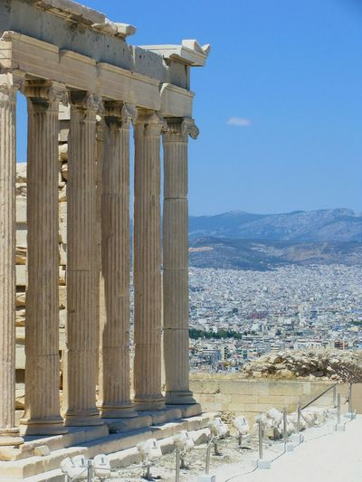 athens Columns Pillars Monument Ancient Monument Athens Athens, Greece Parthenon Acropolis Ancient Civilization City Architectural Column Old Ruin Ancient History Architecture Go Higher Stories From The City