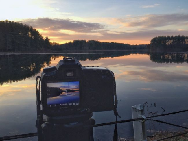 Be. Ready. My goal is to Get Out And Shoot more!! Sky Technology Water Reflection Photography Themes Sunrise Cloud - Sky Nature Digital Camera No People Beauty In Nature Photographing Camera - Photographic Equipment Digital Single-lens Reflex Camera Outdoors Tree Scenics Lake