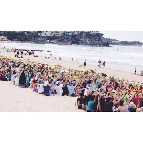 The crowd on the beach at Manly today // Vscocam Endpoverty Halvepoverty