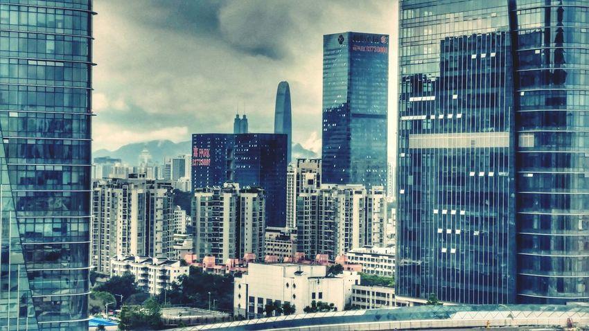 Shangmeilin Buildings High Rise Clouds
