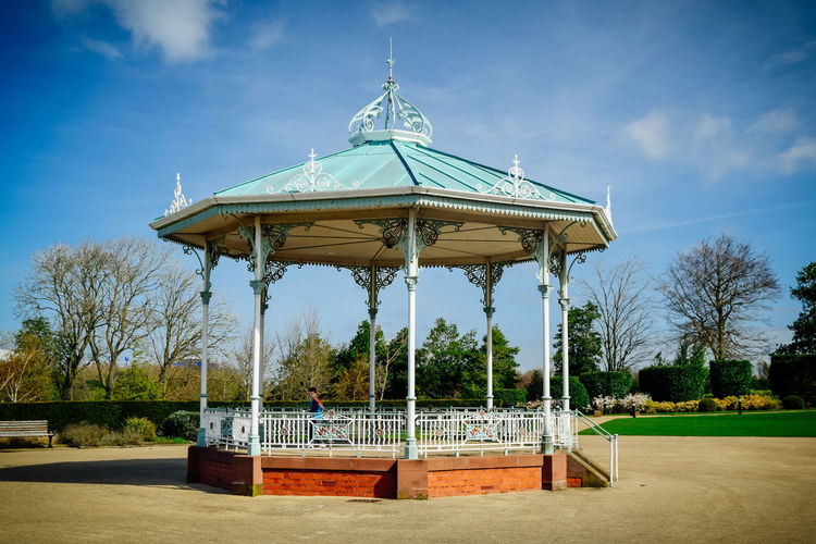 Architecture Band Stand Bandstand Blue Blue Sky Building Exterior Built Structure Cloud - Sky Day Nature Outdoors Sky Tree The Architect - 2017 EyeEm Awards