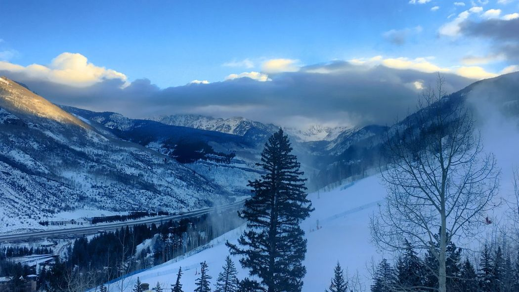 Snow Winter Cold Temperature Mountain Nature Scenics Beauty In Nature Sky Weather Tree Mountain Range Tranquility Tranquil Scene No People Outdoors Landscape Cloud - Sky Day Weather Vail,co