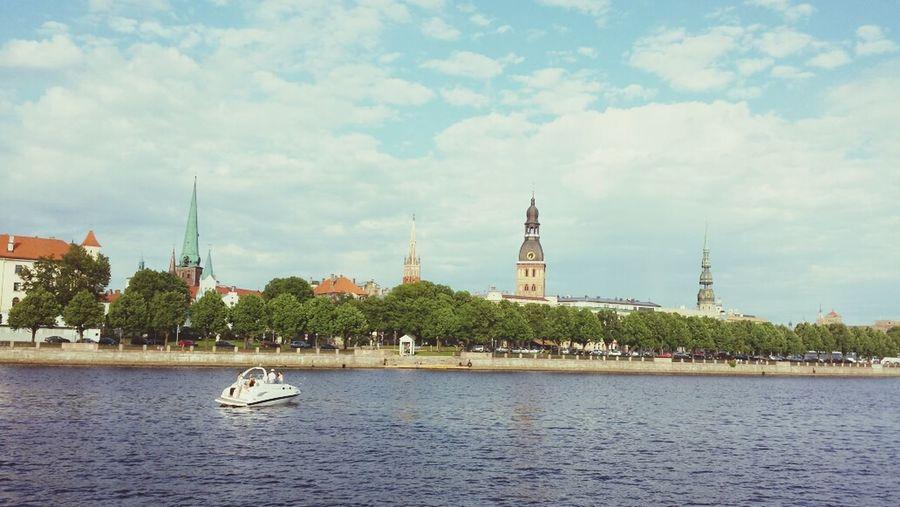 Riga River Daugava Chil