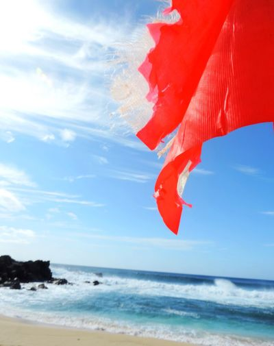 When in doubt, don't go out. Beach Cloud Cloud - Sky Flag Horizon Over Water Idyllic Landscapes With WhiteWall Lifeguard  Outdoors Red Sea Shore Sky Surfing Tranquil Scene Warning Water