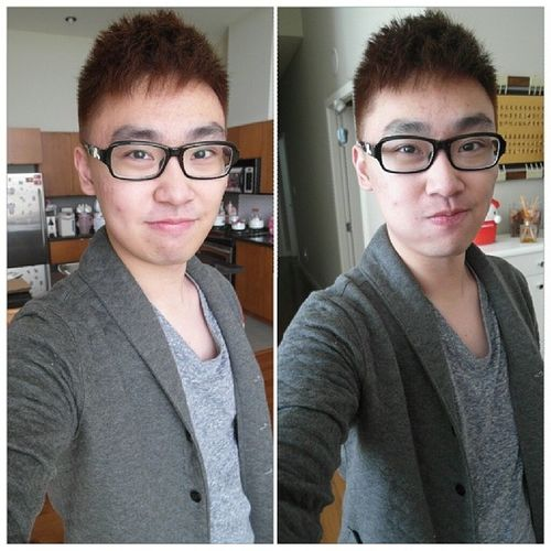 顏色對了 感覺變白了 呵呵 Hkig Hkboy Igvancouver Newstyle haircut first time coloring airplus salon clubmonaco ootd brown sunny 2014