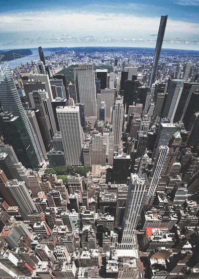 New York Architecture Birdseye View Cityscape NYC Ney York Skyline Buildings Concrete Skyscraper Street Summer Towers Urban Jungle
