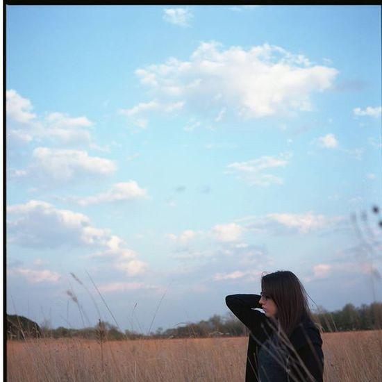 Day 117 of 366. 365project Nofilter Photography Filmisnotdead Istillshootfilm Mamiya C330 Kodak Ektar100 Outdoors Nature Tallgrass Bluesky Portrait Mediumformat 6x6