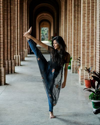 Behind those effortless smiles are the efforts by heart. Dance Contemporary Art 500px City Full Length Women Standing Long Hair Human Arm Arms Raised Breakdancing Dancer Traditional Dancing Dance Studio Handstand  Standing On One Leg